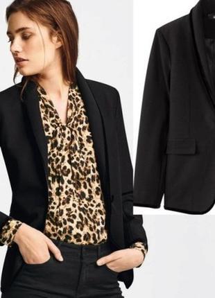 Чёрный пиджак блейзер xl-xxl / жакет коллекция хайди клум