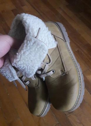 Polomino ботинки 32 размер на мальчика с натуральной овчиной теплые