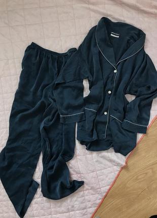 Шёлковая пижама 100% шёлк рубашка , штаны