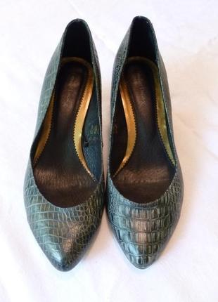 1+1=3 удобные классические туфли лодочки под крокодила emilio luca x