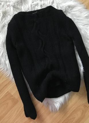 Шерстяной свитер с косичкой sisley