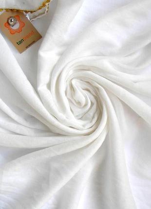Большой котоновый шарф палантин, белоснежный, испания, -174х116см - ,с биркой