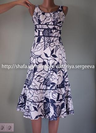 Большой выбор платьев - летнее льняное платье миди petite affair 100% лен
