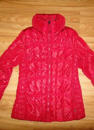 Яркая куртка jill на девочку р.146-152 приталенная, деми синтепон