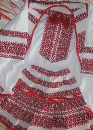 Национальный костюм для девочки 3-ка (блузка + юбка + жилетка) 116 см3