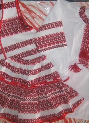 Национальный костюм для девочки 3-ка (блузка + юбка + жилетка) 116 см2