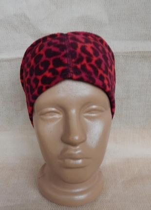 Леопардовая флисовая повязка на голову .faded glory америка.