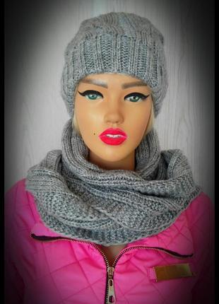 Шапка, шарф, хомут.