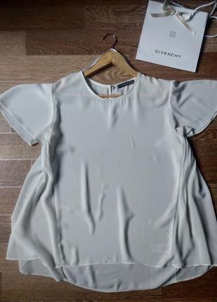 Легкая шифоновая бело-молочная блуза