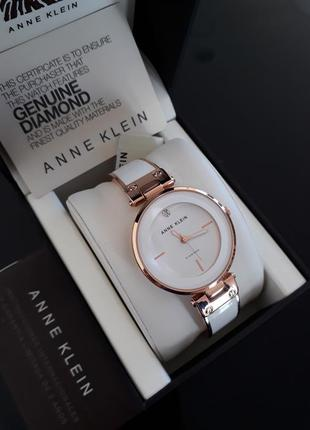 Часы anne klein с диамантом оригинал ak1414wtrg
