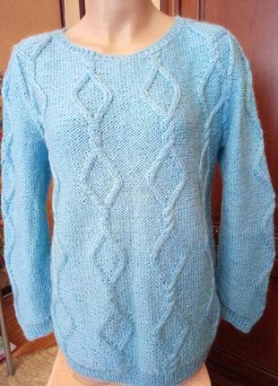Уютный теплый вязаный свитер, размер50-52