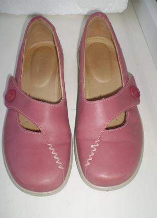 Туфли ,балетки мокасины hotter ( англия) полностью кожа р.39 ( us 8 ),стелька 25 см