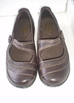 Туфли балетки мокасины clarks bendables р.4 d, стелька 23.5  кожа