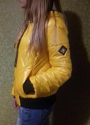 Новая фирменная стёганая куртка milhan в стиле бомбер.