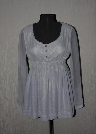 Оригинальная шелковая туника-платье блузка burberry brit