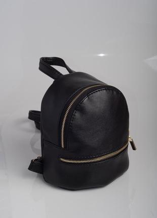 Прогулочный рюкзак чёрный для женщин с экокожи