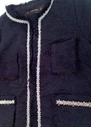 Пиджак жакет в стиле шанель с вышивкой