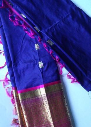 Скидки в личку закрытие магазина 15.12.18 сари шелк-хлопок из индии
