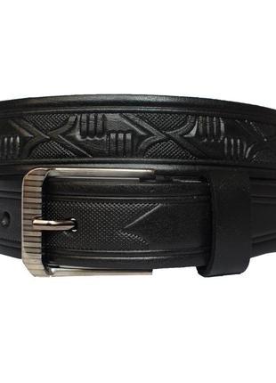 Champion  ремень кожаный пояс кожанный детский подростковый черный пасок шкіряний