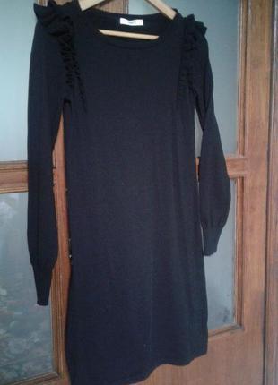 Чёрное платье, сукня по фигуре xs-s