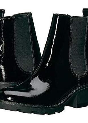Черные лаковые ботинки  kendall+kylie