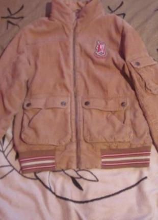 Вельветовая куртка h&m модный небольшой оверсайз