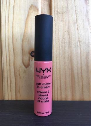 Nyx жидкая матовая помада soft matte lip cream (smlc)