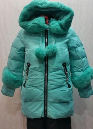 Зимнее пальто на девочку happy snow 128-158р