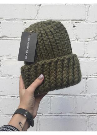Шапка wool maxi 🌾 с отворотом