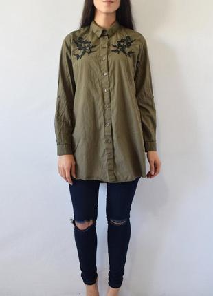 Рубашка с вышивкой primark