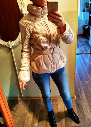 Осенняя бежевая куртка lawine 42(s)