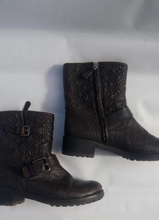 Дизайнерские сапоги ботинки tory burch демисезон р.39 кожа натуральная оригинал