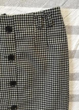 Стильная юбка принт гусиная лапка h&m