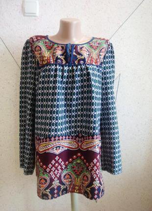 Красивая блуза с королевским принтом 12-14