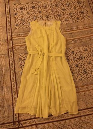Летнее лимонное платье zalando
