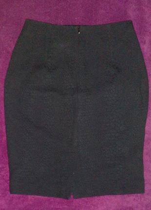 Классическая юбка карандаш, с подкладкой, 100% плотный хлопок, со шлицой, mango