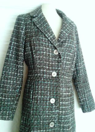 Коричнево- зеленое пальто на межсезонье,2xl