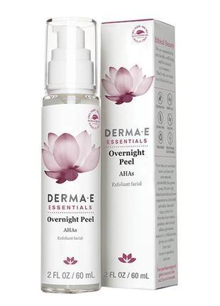 Ночной пилинг derma e с альфа-гидроксикислотами overnight peel with alpha hydroxy acids