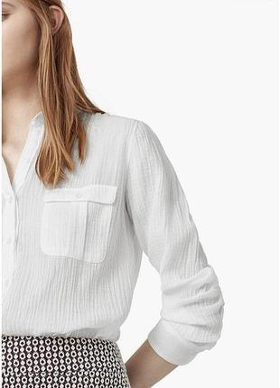 Базовая белая рубашка mango