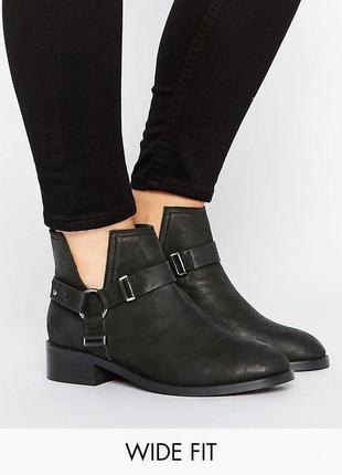 Кожаные ботинки asos,р-р 40