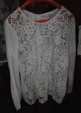 Шикарнейшая кружевная блуза от zara