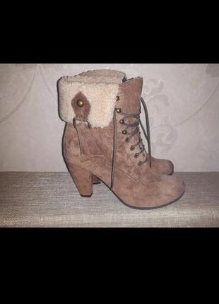Замшевые ботинки clarks (41р)