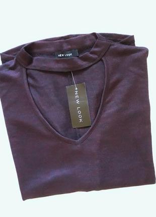 Суперовая кофточка с чокером и рукавом три четверти бренда  new look
