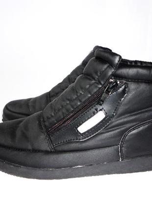 Закрытые туфли на меху со светоотражателями р.38 стелька 24,5см