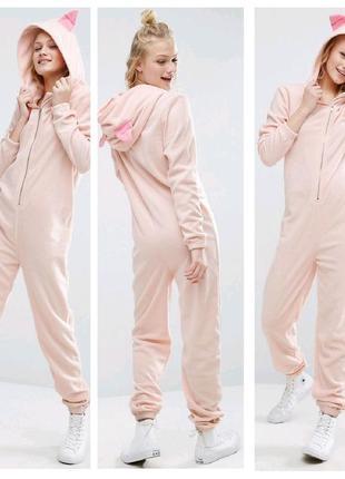 Встречаем год свинки!!слип комбинезон от бренда asos пижама человечек
