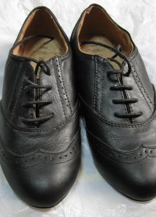Новые кожаные черные туфли оскфорды new look 5/38 стелька 24см
