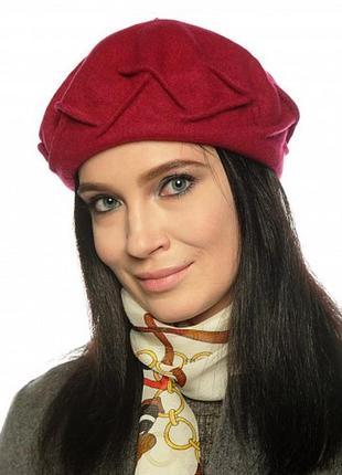 Чешский фетровый берет tonak fezko красный