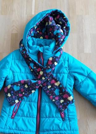 Куртка на девочку  шарф