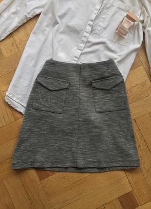 Серая юбка трапеция 😽