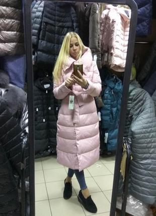 Шикарный зимний длинный розовый пуховик одеяло, розовое пальто clasna,2019 s, m, l, xl